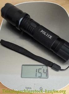 Gewicht Taschenlampe mit Elektroschocker