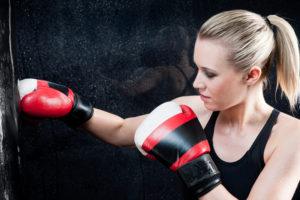 Boxen Frauen Selbstverteidigung